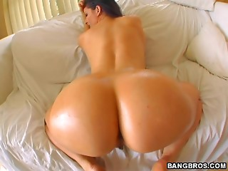 Big Ass,Oiled,Babe,Brunette,Doggystyle