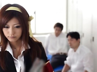 Student,Amateur,Asian,Blowjob,Hardcore,Office,Small Tits,Threesome