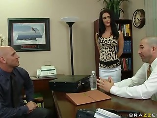 Secretary,Big Cock,Office,Big Ass,Big Boobs,Brunette,Hardcore