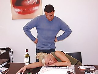 Drunk,Office,Hardcore,Blonde,Slut