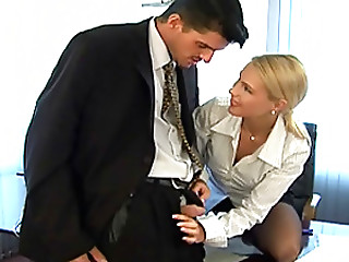 Office,Babe,Big Cock,Blonde,Blowjob,Hardcore,Lingerie