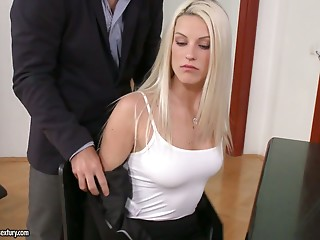 Beautiful,Secretary,Strip,Anal,Big Boobs,Blonde,Blowjob,Hairy,Hardcore,Lingerie,Office,Doggystyle