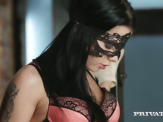 Masked,Doggystyle,Small Tits,Blowjob,Shaved,Stockings,Babe,Softcore,Slut,Brunette,Hardcore,Lingerie