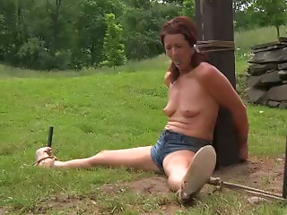 BDSM,Beautiful,Small Tits,Outdoor,Slut