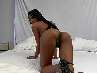 Exotic,Teen,Latina,Casting,Close-up,High Heels,Lingerie,Ass licking