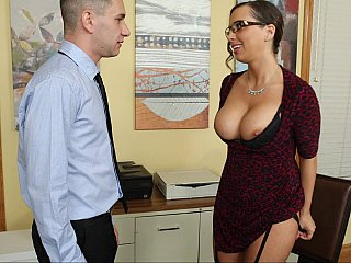 Secretary,MILF,Teen,Big Boobs,Office,Shaved,Big Ass,Brunette,Close-up,Glasses,Lingerie,Stockings,Ass licking