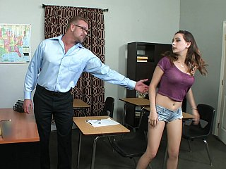 School,Teen,Blowjob,Brunette,Close-up,Old and young