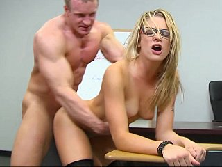 Blonde,Close-up,Glasses,Hardcore,School,Stockings,Teen