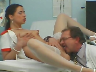 Old and young,Nurse,Small Tits,Stockings,Teen,Uniform,Blowjob,Doctor,Hardcore,Lesbian,Mature