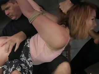 Extreme,Double Penetration,Big Ass,Blowjob,Brunette,Hardcore,Panties,Spanking,Threesome,Slut,BDSM