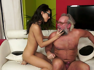 Old and young,Teen,Ass licking,Mature,Babe,Blowjob,Brunette,Glasses,Petite,Small Tits,Natural