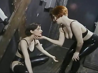 Femdom,Latex,BDSM,Brunette,High Heels,Lesbian,Redhead,Beautiful,Slut