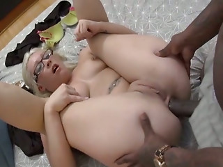 Black and Ebony,Big Cock,Slut,Anal,Big Ass,Blonde,Blowjob,Glasses,Hardcore,Interracial,Flexible